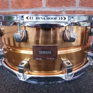 """YAMAHA CUSTOM COPPER SNARE DRUM / SEAMLESS 6.5"""" SHELL / DISCONTINUED JAPAN"""