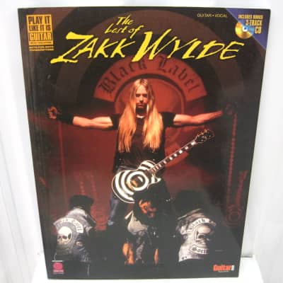 Zakk Wylde The Best of Sheet Music Song Book Songbook Guitar Tab Tablature