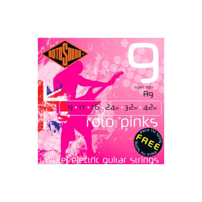 Rotosound Roto Pinks Electric Strings 09-42