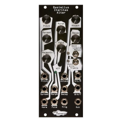 Noise Engineering Basimilus Iteritas Alter - Analog-inspired Parameterized Digital Percussion Black Panel