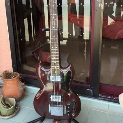 Hoyer Type 5045 SG-Style Bass 1967 Cherry for sale