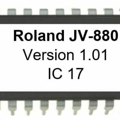 Roland JV-880 - Version 1.01 OS Firmware Eprom Update OS Upgrade for JV880