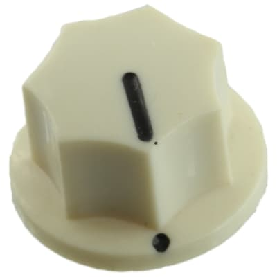 Small Fluted Knob with Black Indicator, Cream