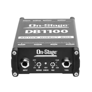 On-Stage DB1100 Active Direct Box with Stereo-to-Mono Summing