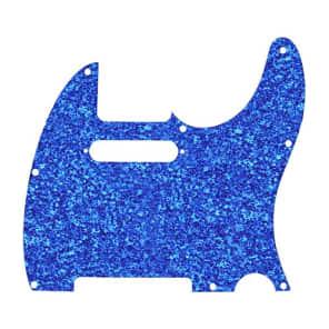 D'Andrea 4-Ply Telecaster Pickguard Blue Sparkle for sale