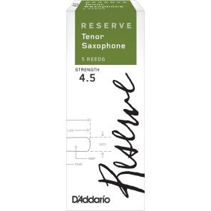 D'Addario DKR0545 Reserve Tenor Sax Reeds - Strength 4.5 (5-Pack)