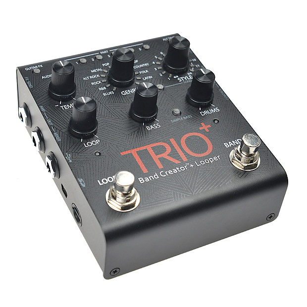 digitech trio plus band creator with looper pedal reverb. Black Bedroom Furniture Sets. Home Design Ideas