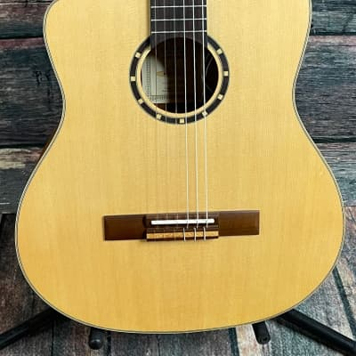 Ortega Left Handed Family Series RCE125SN-L Thinline Acoustic/Electric Classical Guitar for sale