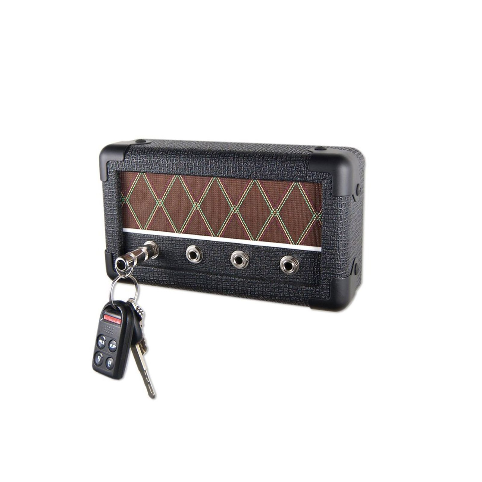 Droplight combo series black diamond guitar amp wall mounted key holder w 4 keychains