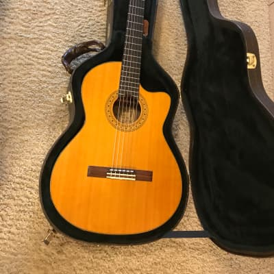Alvarez Yairi CY128CE Classical Acoustic-Electric Guitar in mint condition with original hard case for sale