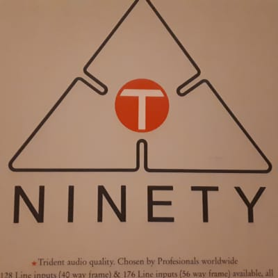 Trident Ninety Console Information and Patch Layout