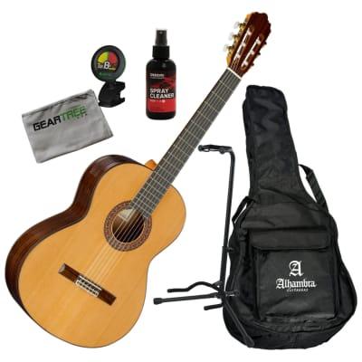 0551309874 Alhambra LR4 Pepe Toldo Solid Cedar Top Classical Guitar w/Bag, Polish,  Stand