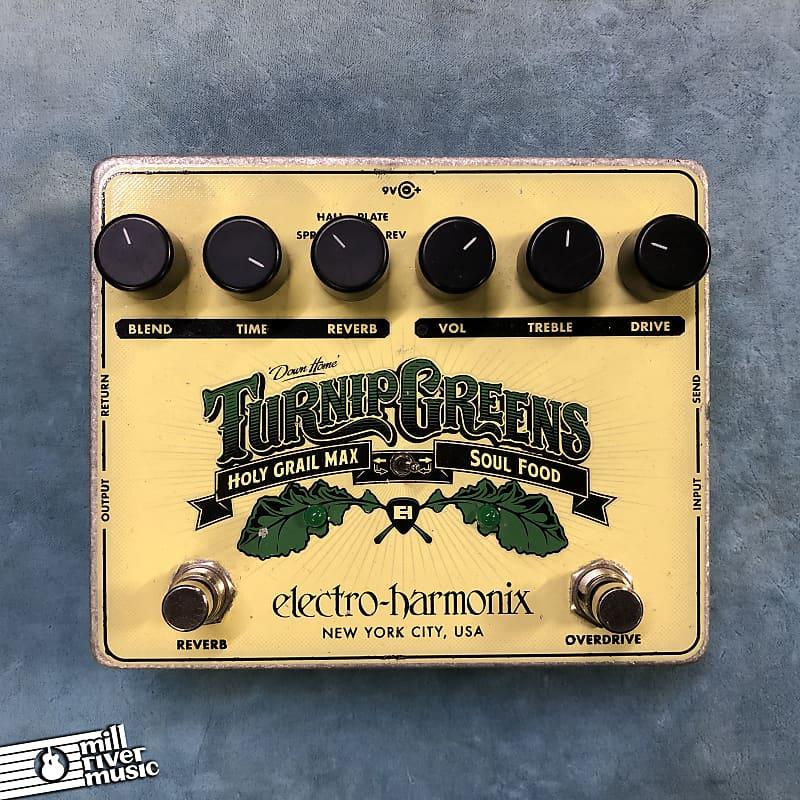 Electro-Harmonix EHX Turnip Greens Overdrive / Reverb Multi-Effects Pedal