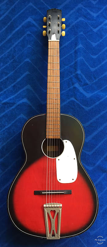 502e30924a Vintage Parlor Guitar, Stella, Harmony Type? Beautiful Red | Reverb