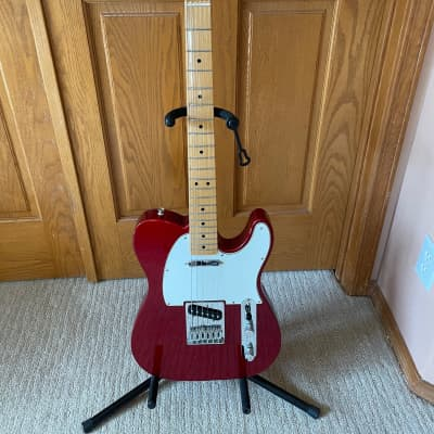 Fender Telecaster 2016 Candy Apple Red made in Mexico MIM with Chromecast hard case