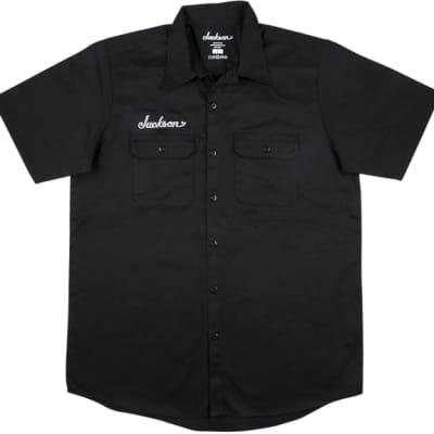 Genuine Jackson Logo Black Men's Workshirt, Size Small #2999578406