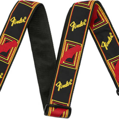 Fender Black /Yellow /Red Monogrammed Strap for sale