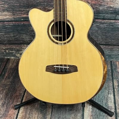Ortega Left Handed STRIPSU.ACB-L Private Room 4 String  Acoustic Electric Bass Guitar for sale