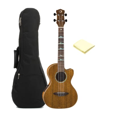 Luna UKE HTT OVA High Tide Series Ovangkol Tenor Acoustic-Electric Ukulele with Accessories