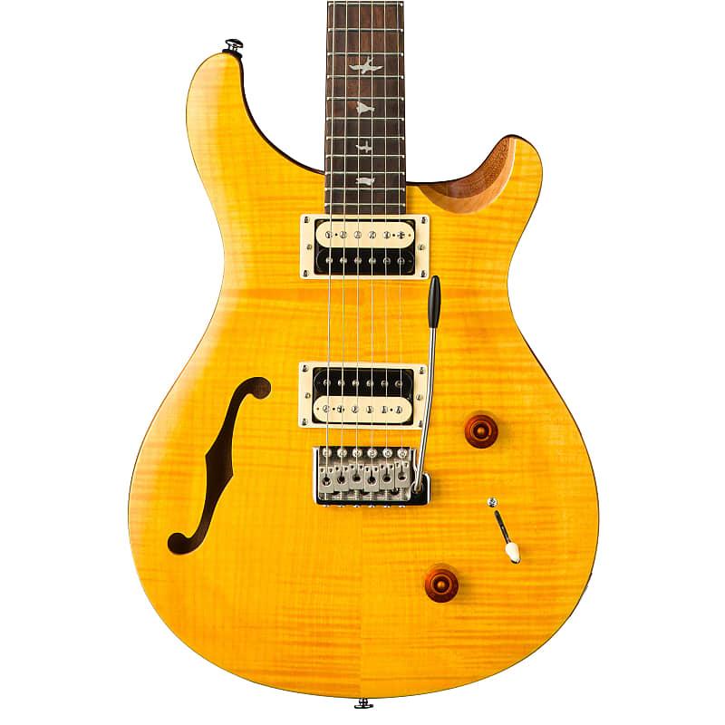 Paul Reed Smith PRS SE Custom 22 Semi-Hollow Electric Guitar Santana Yellow