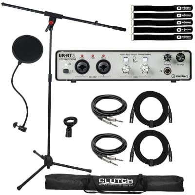 Steinberg UR-RT2 USB 2.0 Home Recording Audio Interface Preamp w Mic Stand