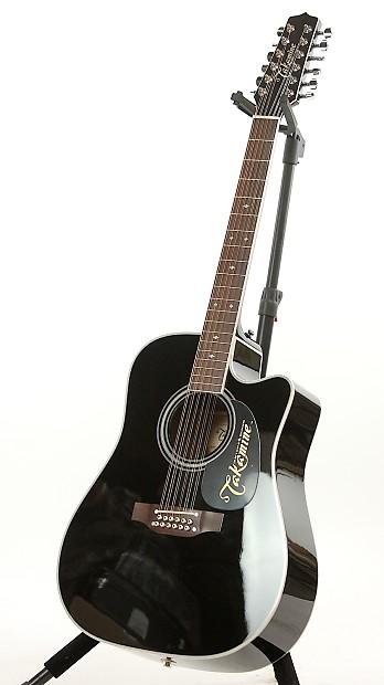 takamine ef381sc black 12 string acoustic electric guitar reverb. Black Bedroom Furniture Sets. Home Design Ideas