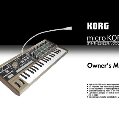 Korg microKorg Owner's Manual