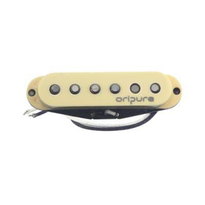 OriPure Alnico 5 Single Coil Neck Pickup For Strat Guitars 6.4K, CREAM