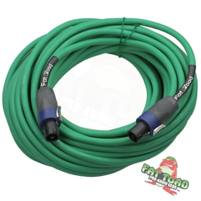 Speakon to Speakon Cable Speaker Cords 50 FT – FAT TOAD 12 AWG Wires Audio Stage