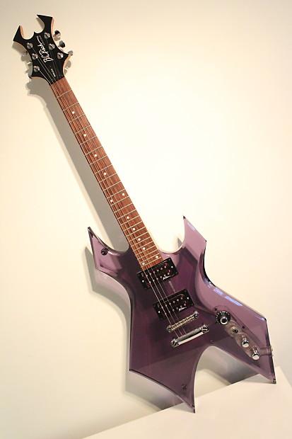 b c rich warlock acrylic series dark purple 24 fret metal reverb. Black Bedroom Furniture Sets. Home Design Ideas
