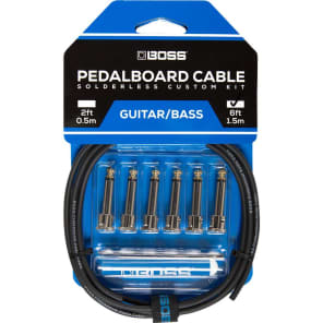 Boss BCK6 Solderless Pedalboard Cable Kit - 6'
