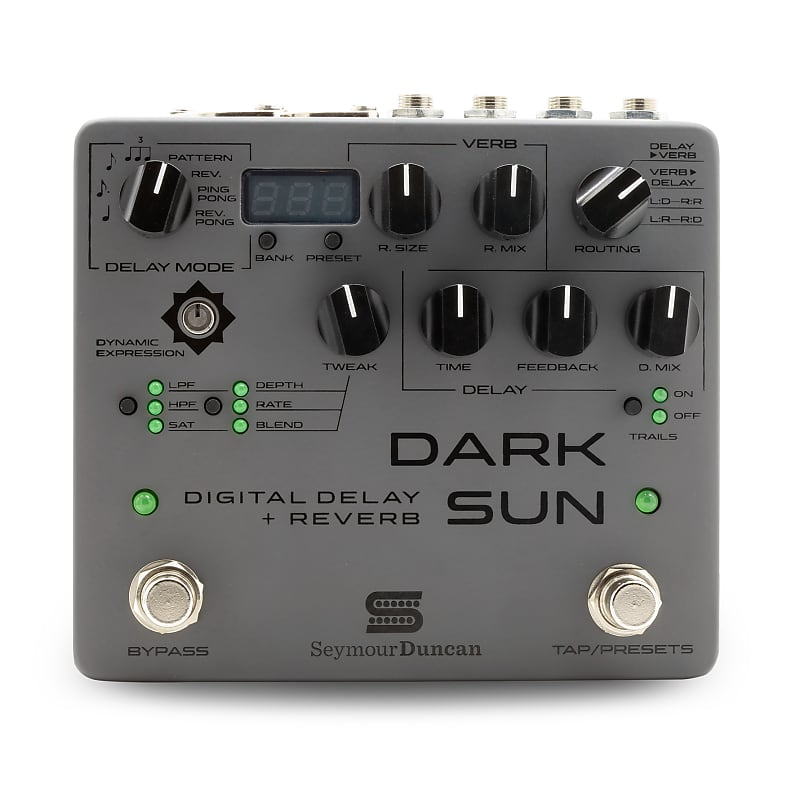 Seymour Duncan Dark Sun Digital Delay + Reverb Effects Pedal