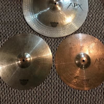 """SABIAN APX 14"""" HI HATS AND 18"""" CHINESE HIGH PROJECTION CYMBALS"""