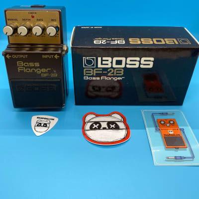 Boss BF-2B Bass Flanger w/Original Box   Rare Green Label (Made in Japan)   Fast Shipping!