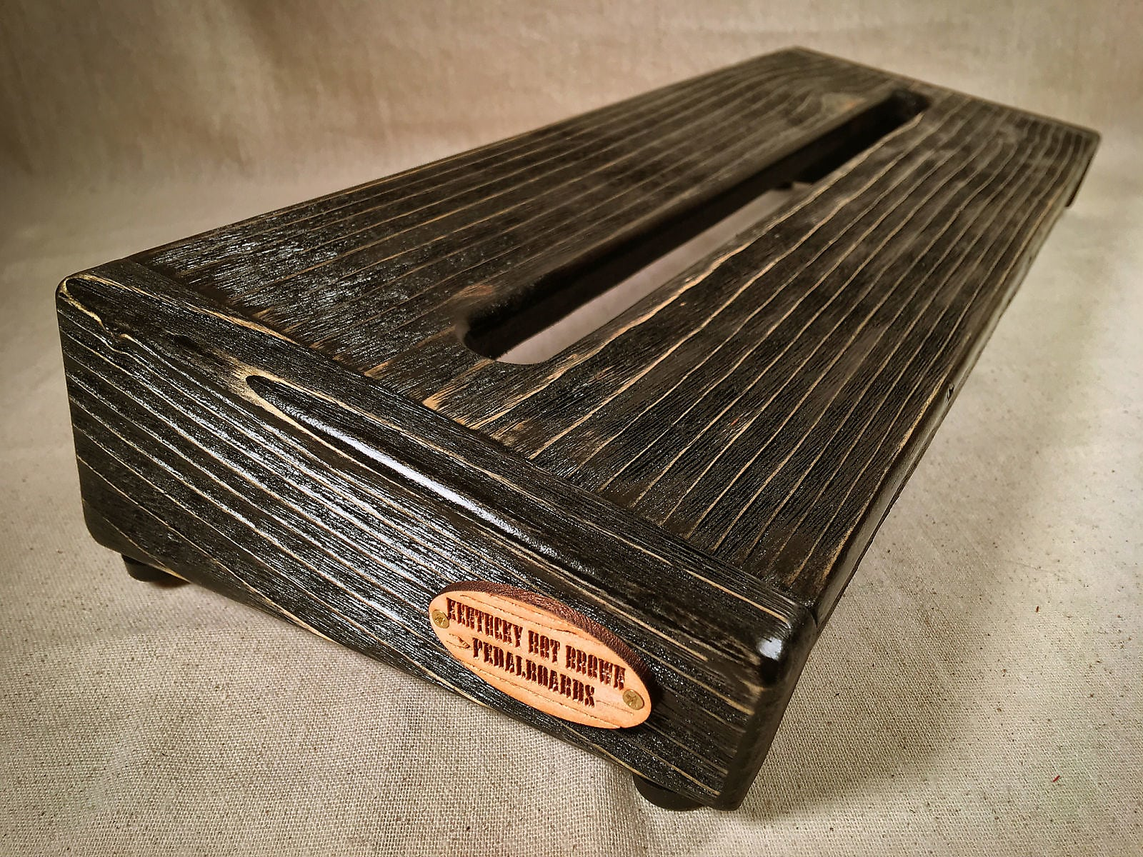 Rough Rider Large Textured - Ebony Stain Pedalboard by KYHBPB - P.O.