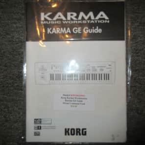Used Korg Karma Workstation GE Guide/Owner's Manual