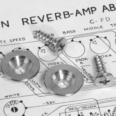 Set Of Two Genuine Fender Tilt Back Leg Stops With Screws New Nickel Plated Steel For Vintage Amps