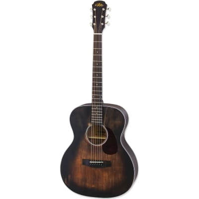 Aria 101DP Delta Player OM Body Acoustic Guitar, Muddy Brown for sale