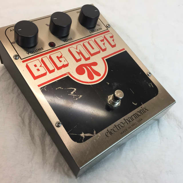 Electro-Harmonix Big Muff Pi  (Red & Black) Fuzz Guitar Pedal Made in USA image