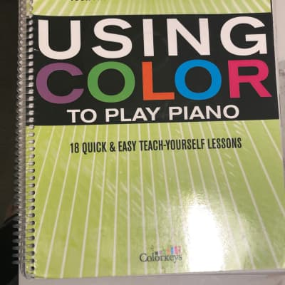Using Color to Play the Piano - Book 2: Playing with Chords Music Instructional