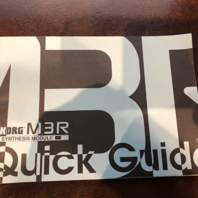 Korg Korg M3R Quick Guide