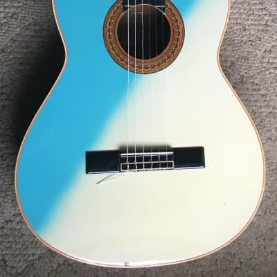 Segovia SCC-002 1960's? Blue/White Swirl Classical Guitar for sale