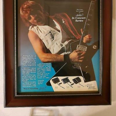 1984 Kahler Tremolos Color Promotional Ad Framed Phil Collen Def Leppard Original