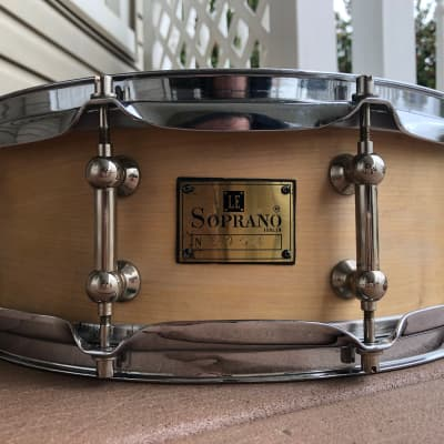 """Le Soprano  Snare Drum 14""""x5"""" New Vintage Maple 1999 Natural"""