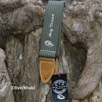 Dog Tired Guitars Premium Guitar Strap - Olive/Khaki - Free Shipping for sale