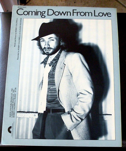 Bobby Caldwell Vintage Sheet Music Coming Down From Love 1980 Reverb
