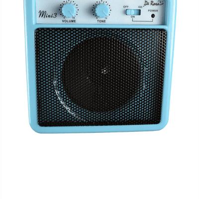 De Rosa DKAMP3-LB Kids 3 Watt Amp w/Strap - Light Blue for sale