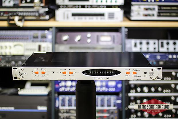 Lynx Studio Aurora 16 AD/DA w/ LT-HD card (for Pro Tools HDX)+ 16-ch  AES/EBU Grey