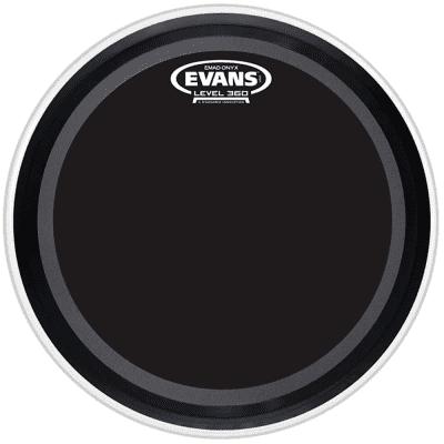 "Evans BD24EMADONX EMAD Onyx Bass Drum Head - 24"""