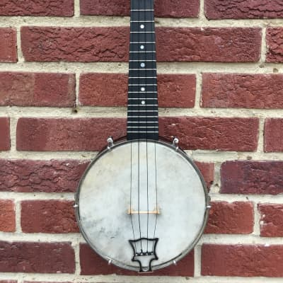 Vintage Banjolele John Grey & Sons Soprano with Resonator Pre War with Original Case for sale